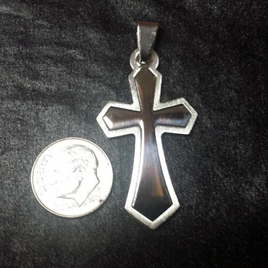 Men's Cross Cutout Stainless Steel Cross Necklace
