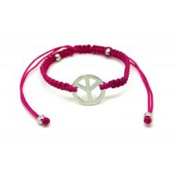 Pink Peace Bracelet